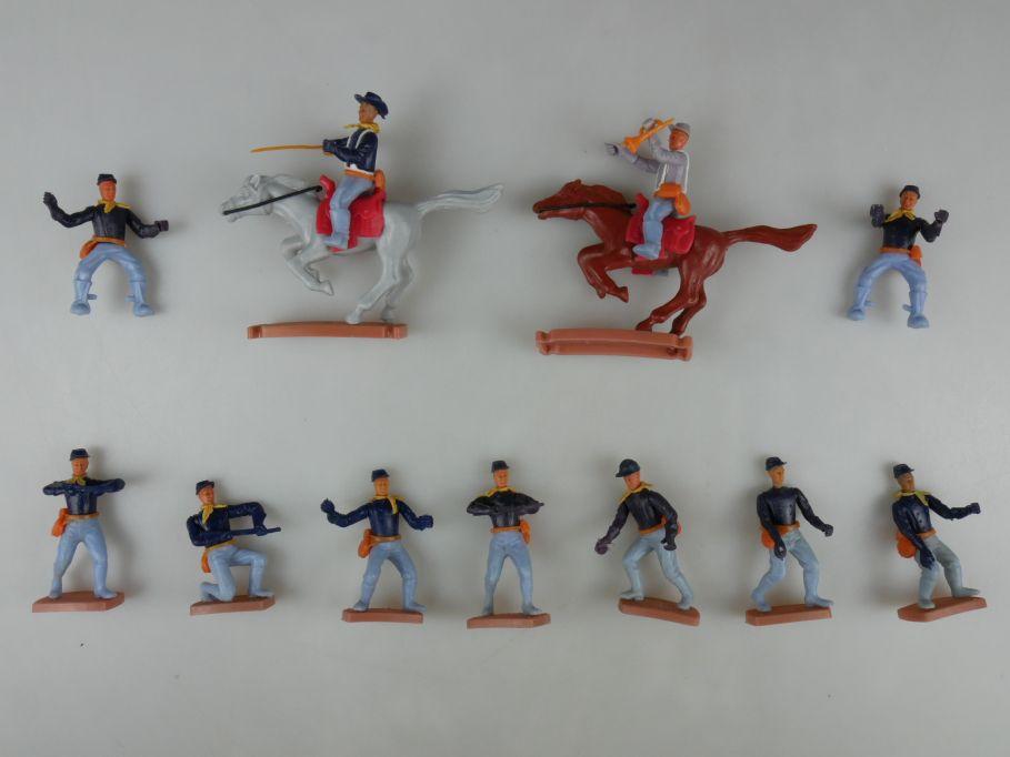 Plasty 11x Soldaten Nord-Staaten Süd-Staaten Billy Western Steckfiguren 111730