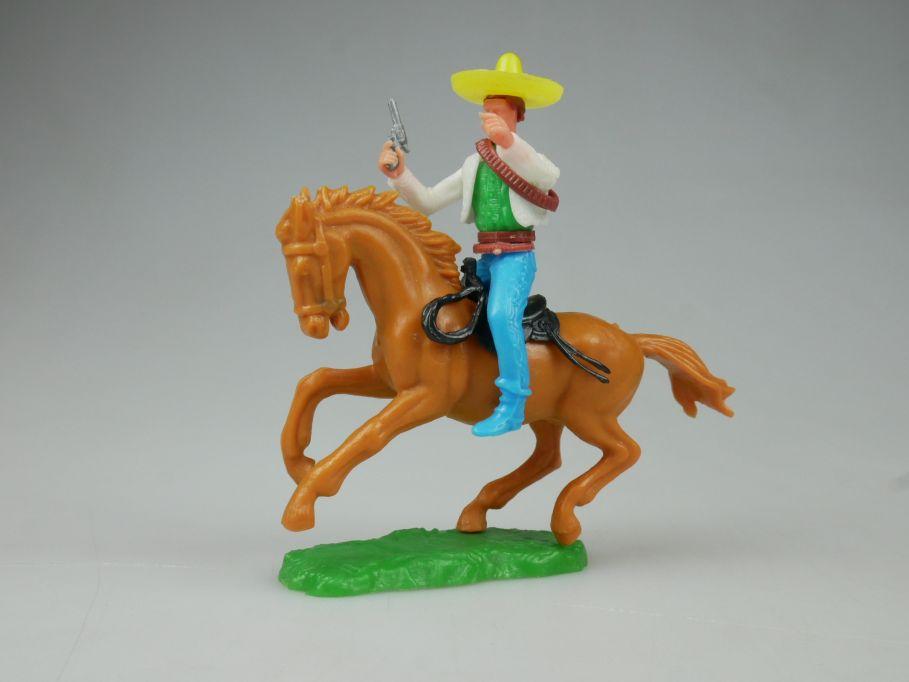 Elastolin Mexikaner Reiter Pferd braun Original Oberteil Steckfiguren 111745