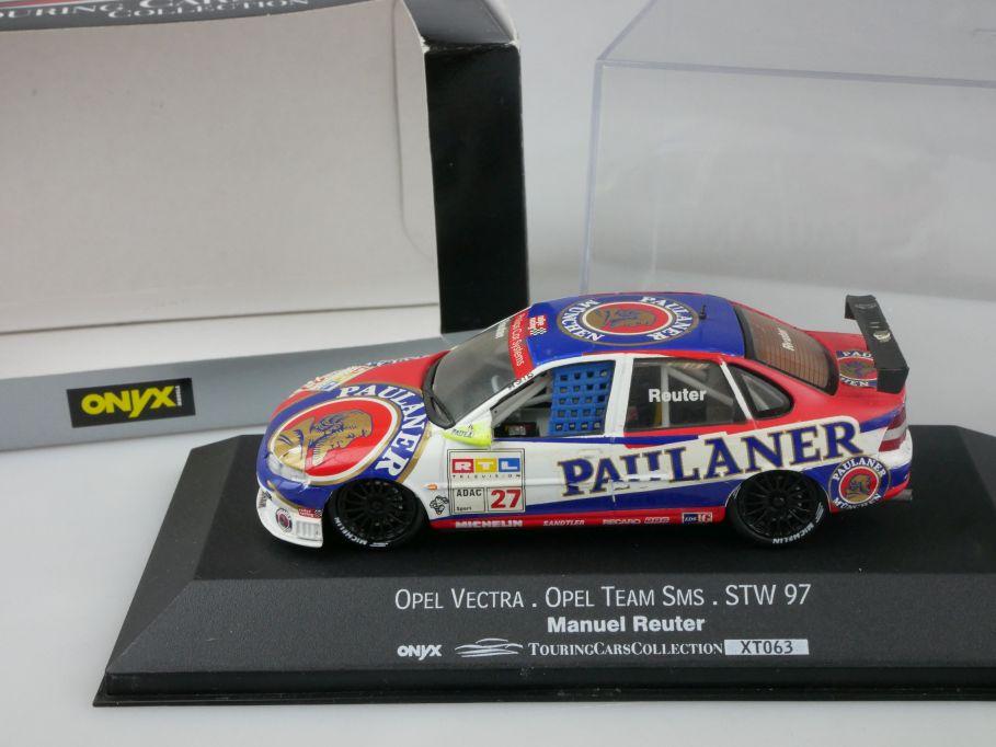 Onyx 1:43 Opel Vectra Team SMS STW 97 Manuel Reuter XT063 + Box 111761