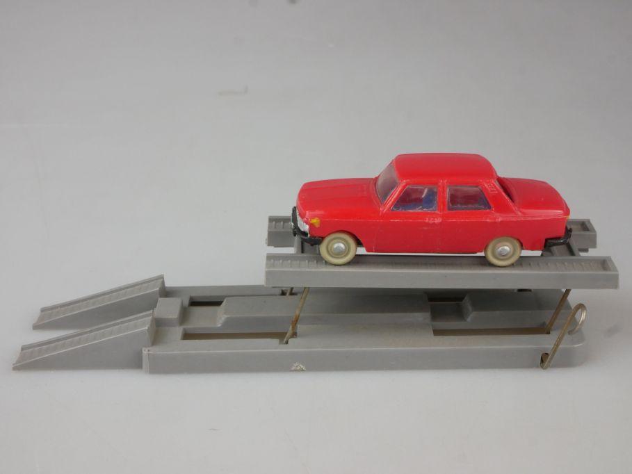 Espewe H0 Auto Hebebühne mit MK Wartburg 353 DDR Ostalgie 111780