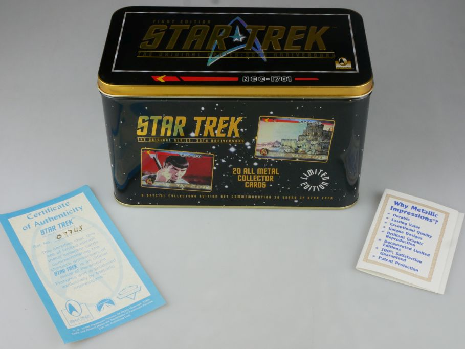 Star Trek 30th Ann. Lim Ed. Set of 20 Sammelkarten Metal Collector Cards 111784