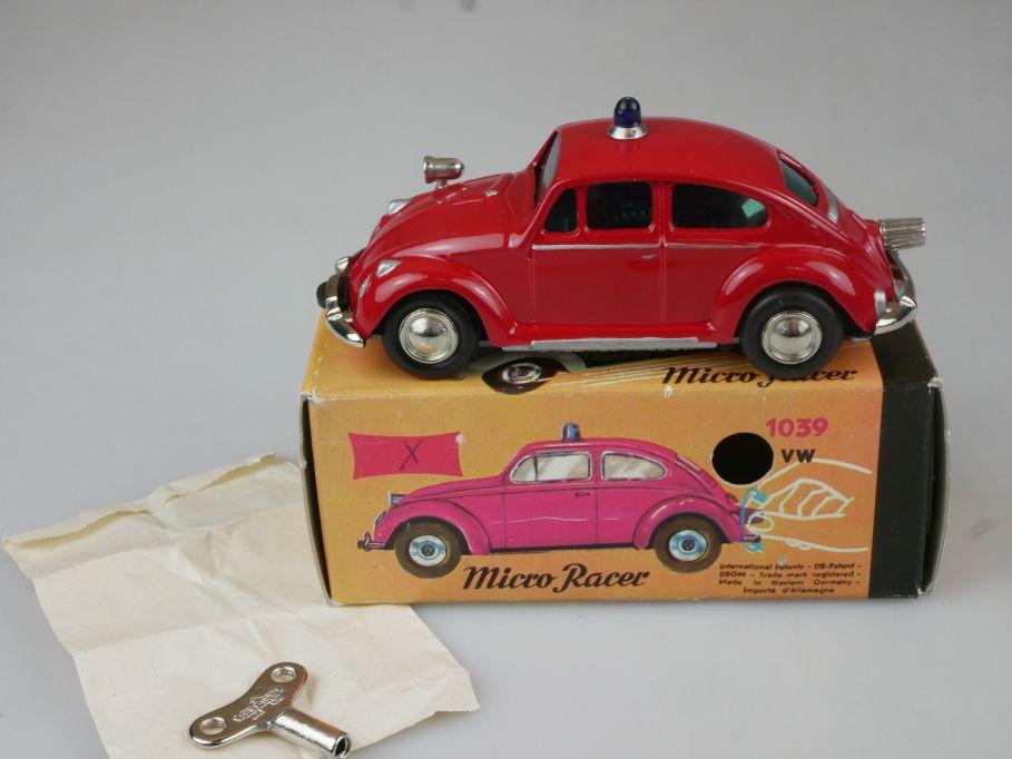 Schuco / Nutz Micro Racer 1039 VW 1200 Käfer Feuerwehr Volkswagen MIB Box 111788