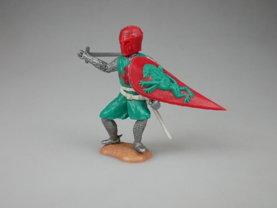 Timpo Ritter Helm Schild grün rot umgekehrte Farbgebung selten Variante 111829