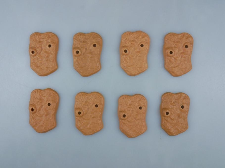 Timpo 8x Bodenplatte Sockel für Pferde beige selten 111835