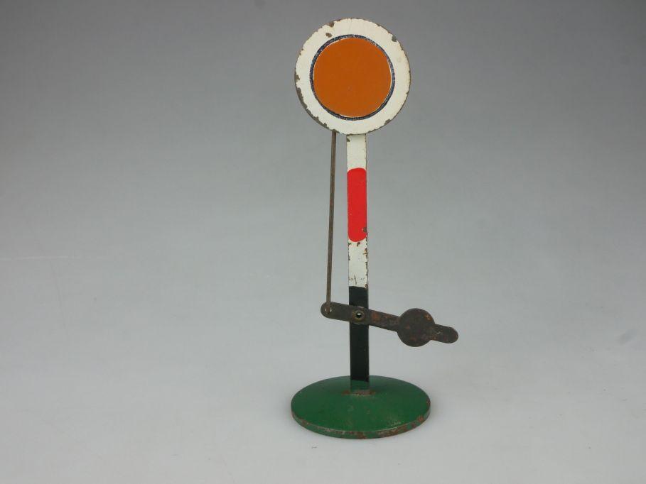 DDR ? Spur 0 Form Vorsignal 10,5cm Blech tin signal 111847
