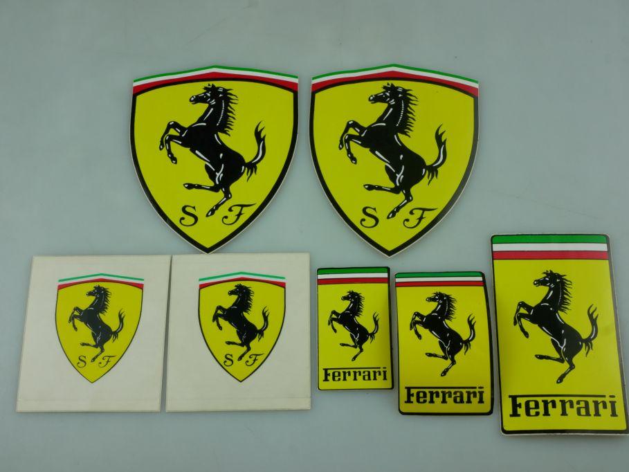 7x Ferrari Aufkleber Sticker Scuderia Advesivo Autoaufkleber 111853