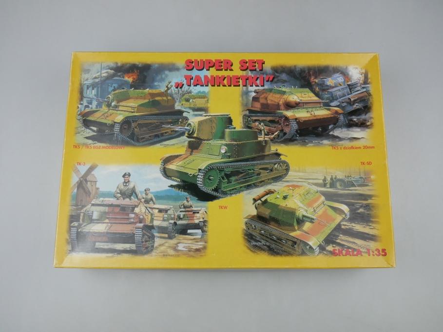 RPM 1/35 Super Set Tankietki TKS TK-3 TKW TK-SD Panzer tank kit w/ Box 111800