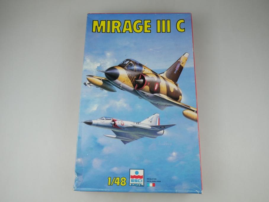 Esci 1/48 Mirage III C Flugzeug plane model No 4087 kit w/ Box 111804