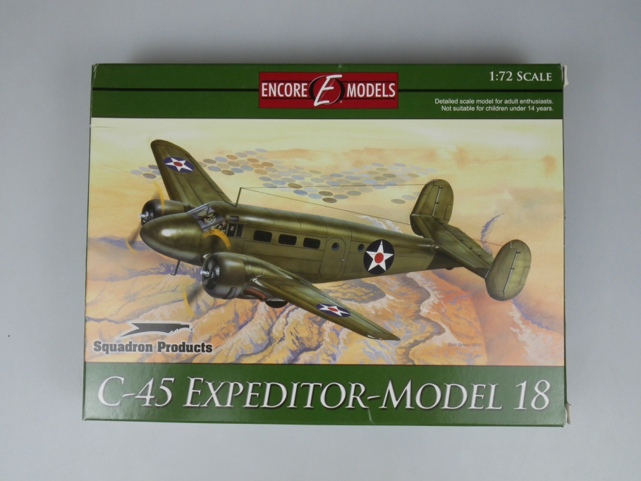 Encore Models 1/72 C-45 Expeditor - Model 18 plane model kit w/ Box 111888