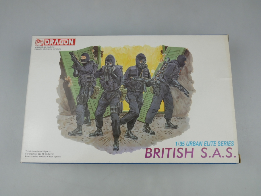 Dragon 1/35 British S.A.S. Truppen figures Figuren model kit w/ Box 111893