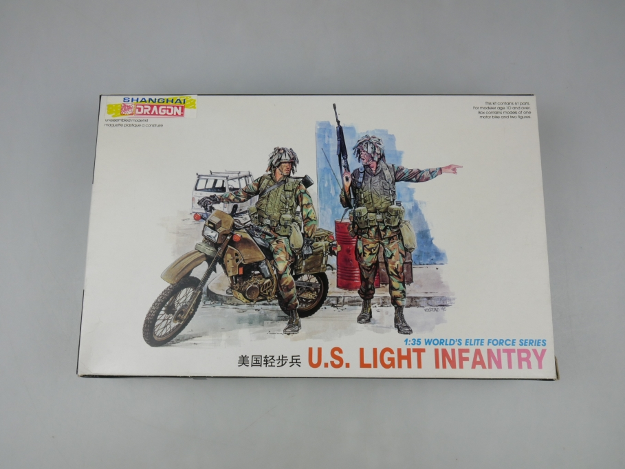 Shanghai Dragon 1/35 U.S. Light Infantery Figuren model kit w/ Box 111894