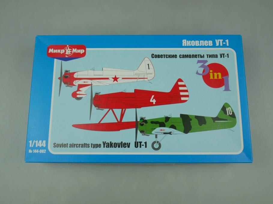 MikroMir 1/144 Soviet Aircrafts Yakovlev UT-1 Flugzeug plane kit w/ Box 111898