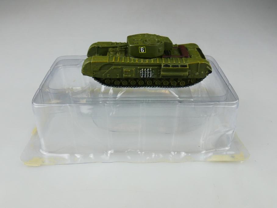 Andrea Miniatures 1/87 Churchill British Oliv Metall Tank w/ Box 111982