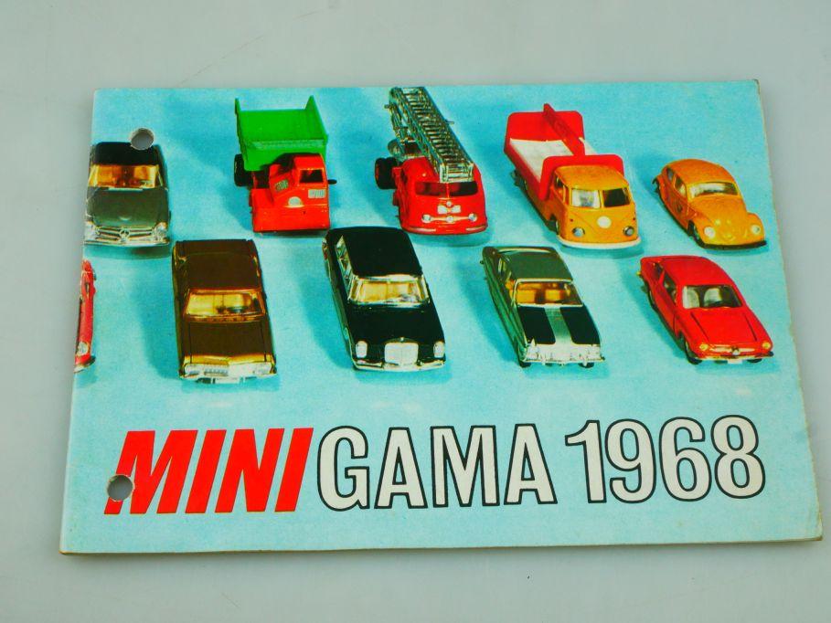 Mini Gama 1968 Katalog 28 Seiten catalog diecast Modelle 111942