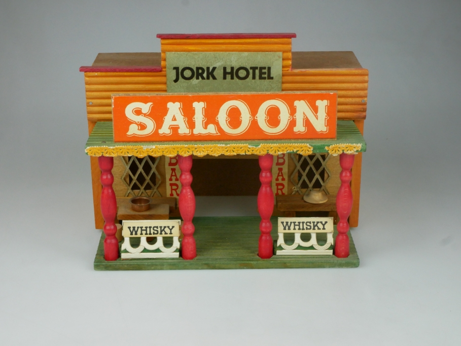 Western Stadt Holz Haus Saloon Jork Hotel Gebäude 111914