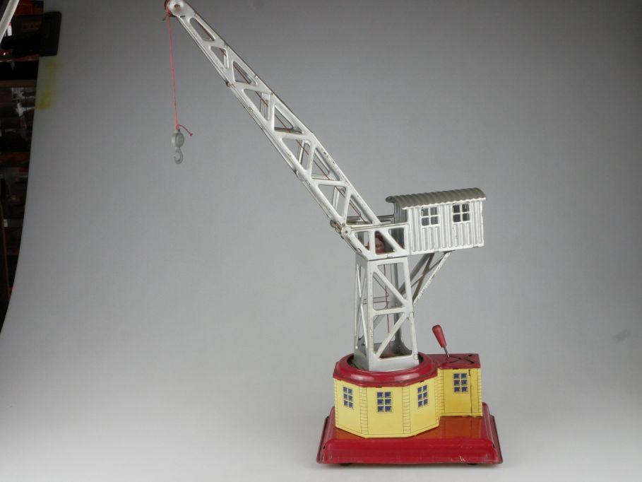 NBN Blechspielzeug Hafenkran Turmdrehkran Blech tin toy crane 50s 112031