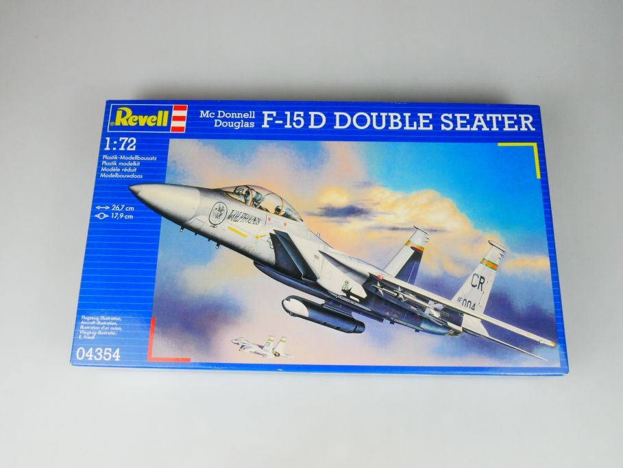 Revell 1/72 Mc Donnell Douglas F-15 D Double Seater plane kit w/ Box 112111