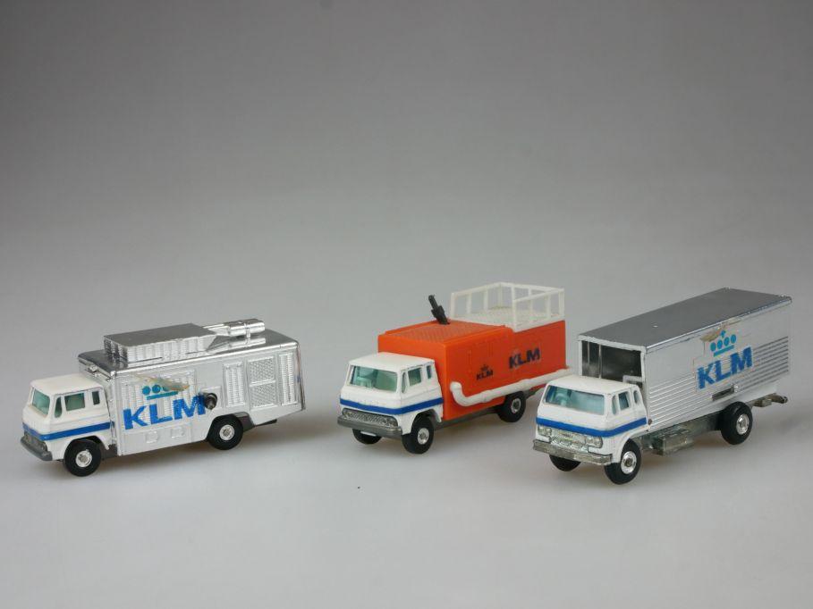 3x Bandai Airport KLM Flight kitchen loader air conditioner oil supply 112083