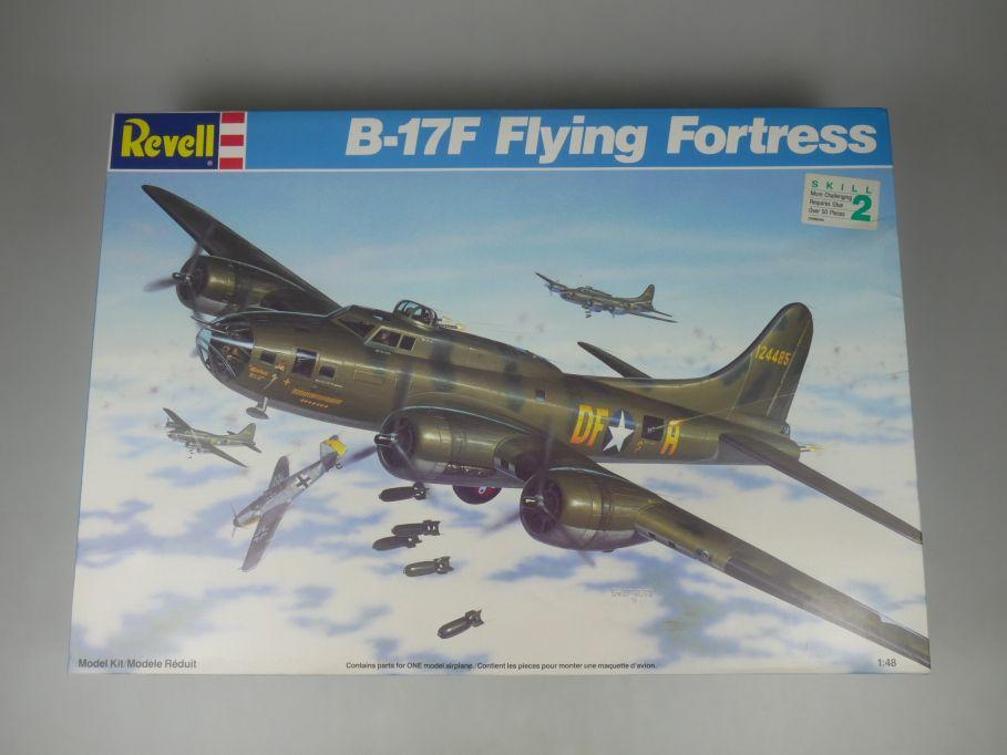 Revell 1/48 B-17F Flying Fortress Flugzeug plane kit w/ Box 112129