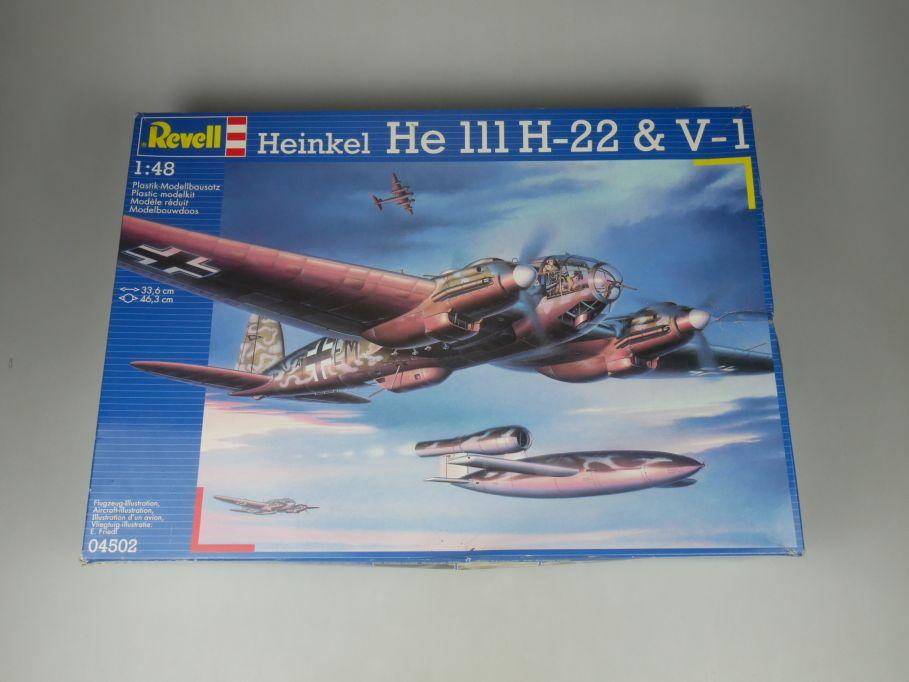 Revell 1/48 Heinkel He 111 H-22 & V-1 Flugzeug plane kit w/ Box 112131
