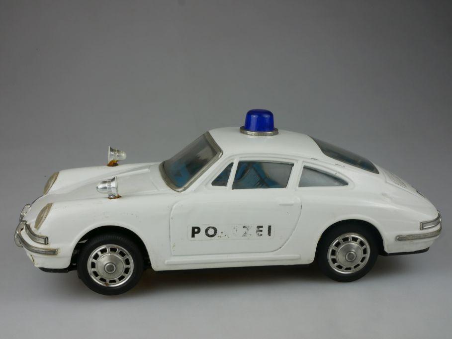 Aoshin Japan battery operated tin toy Porsche 912S Polizei Blechspielzeug 112095