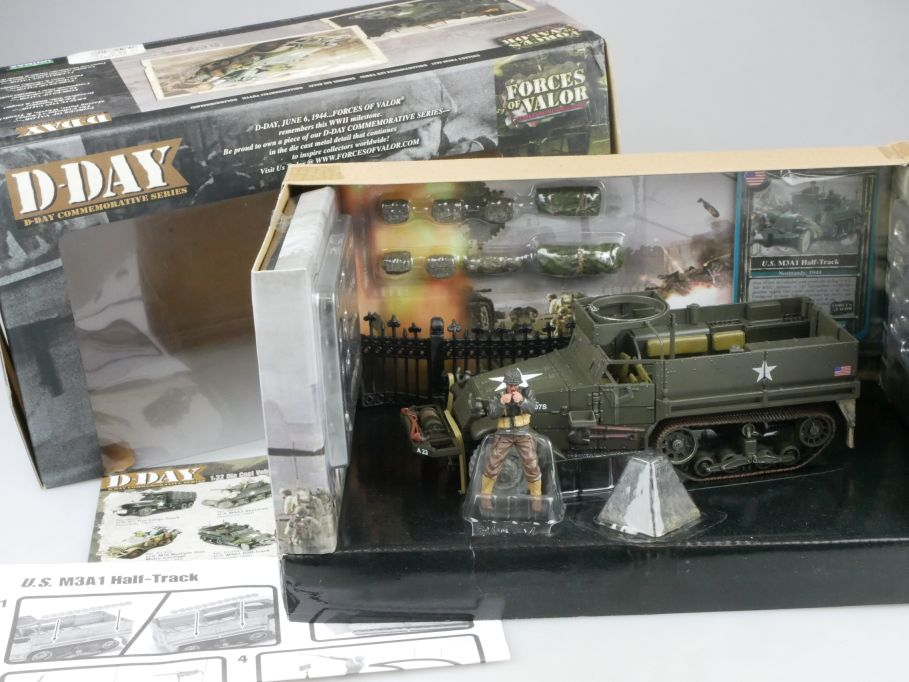 Forces of Valor D-Day 1/32 U.S.M3A1 Half-Track 1944 Normandy 81314 Box 112140
