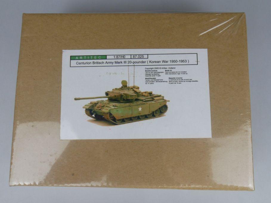 Artitec 1/87 H0 Centurio Britisch Army Mark Tank Panzer Resin kit w/ Box 112233