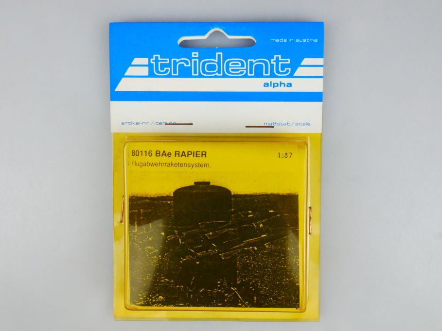 Trident 1/87 80116 BAe Rapier Flugabwehrraketensystem FLAK w/ Box 112252