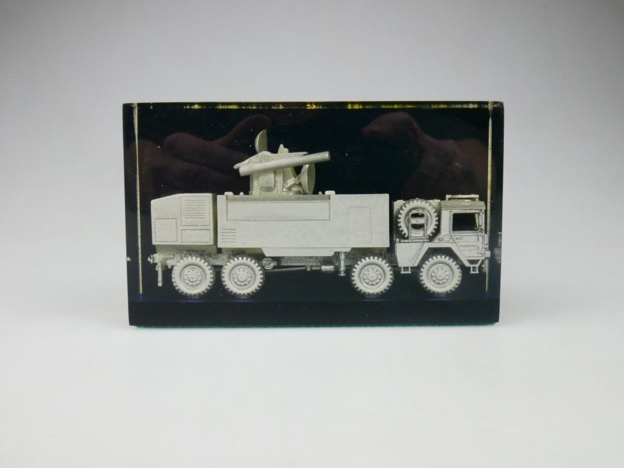 Roco Minitanks 1/87 Sondermodell H0 MAN Roland 650 silber in Gießharz 112292