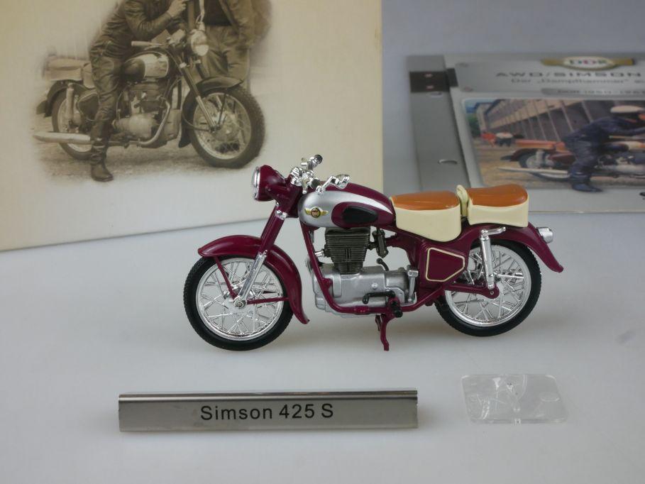 Atlas 1/24 Simson 425 S Motorrad motorcycle DDR Motorräder + Box 112277