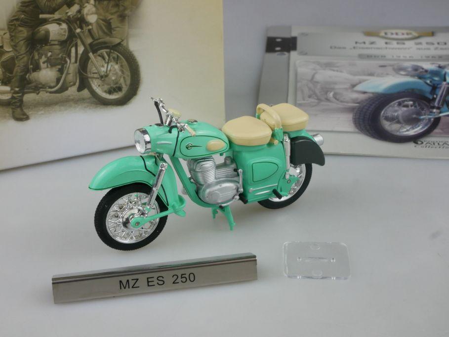 Atlas 1/24 MZ ES 250 Eisenschwein Motorrad motorcycle DDR Motorräder Box 112283