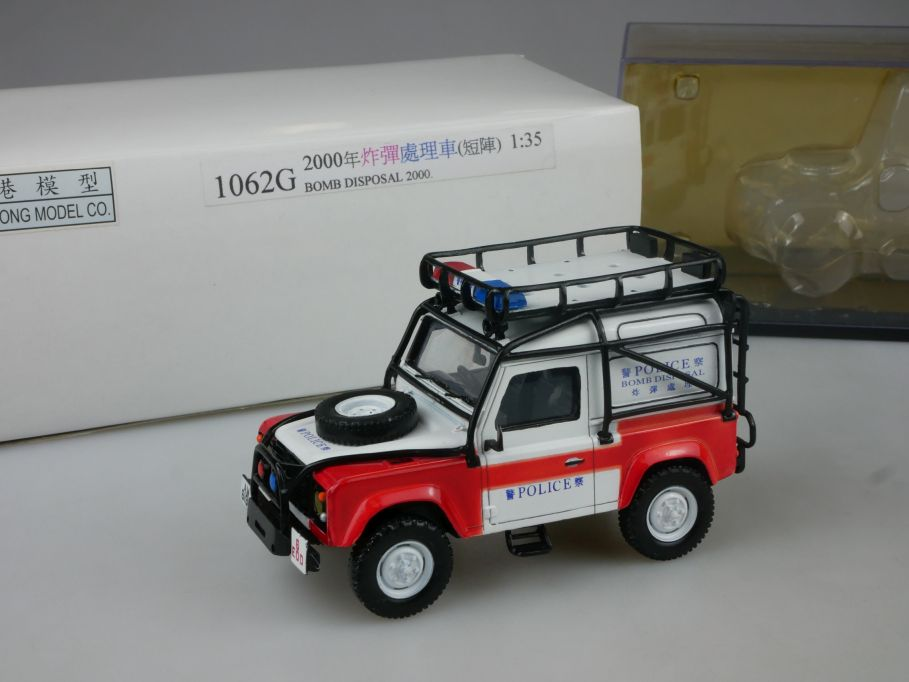 1/35 Land Rover Defender Bomb Disposal Police Hong Kong Model Co Box 112307
