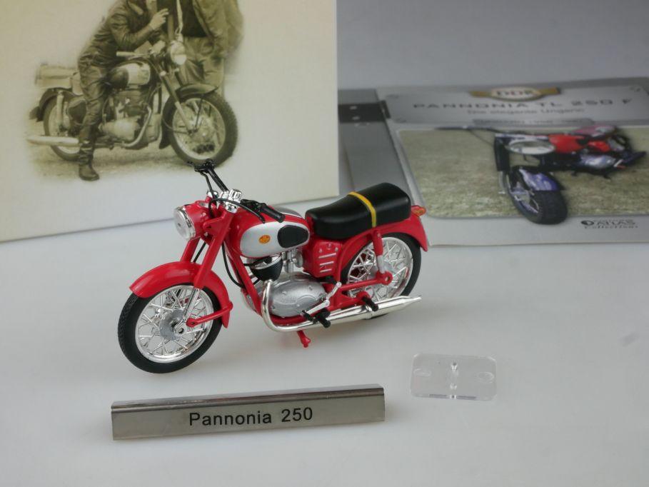 Atlas 1/24 Pannonia TL 250 F Motorrad motorcycle DDR Motorräder Box 112384