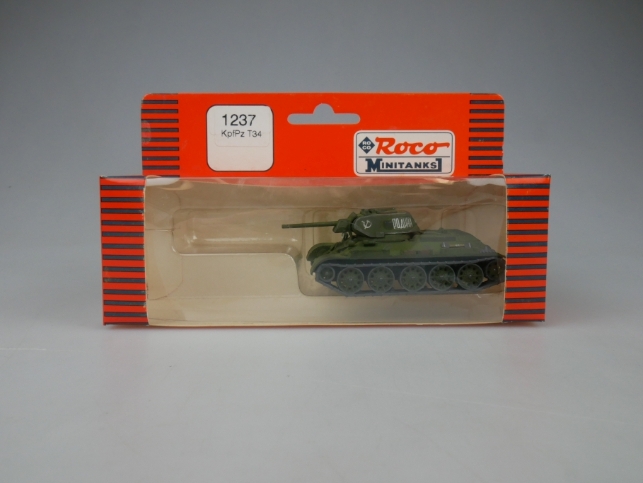 Roco 1/87 H0 1237 KpfPz T34 Petner Panzers Minitanks Tank Militär w/ Box 112323