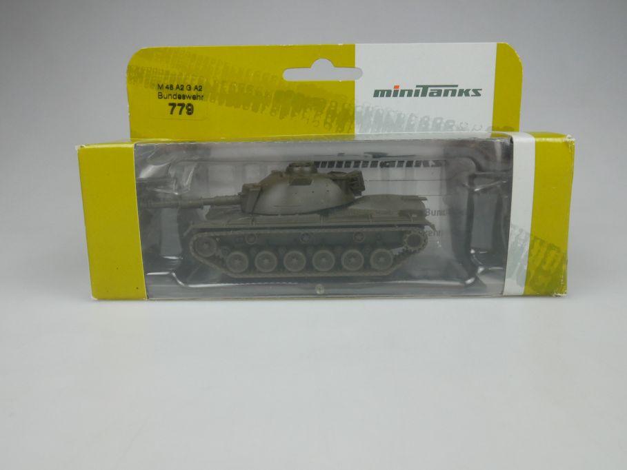 Roco 1/87 H0 Minitanks 779 M 48 A2 G A2 Tank Panzer Bundeswehr w/Box 112515