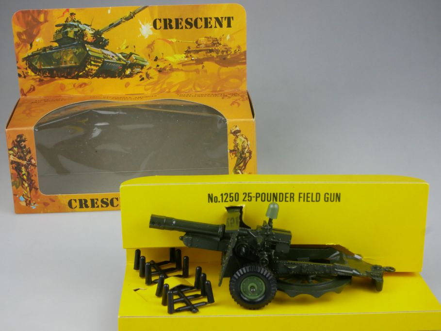 Crescent ARMY 1250 25-pounder Field Gun Feld Kanone diecast + Box 112435