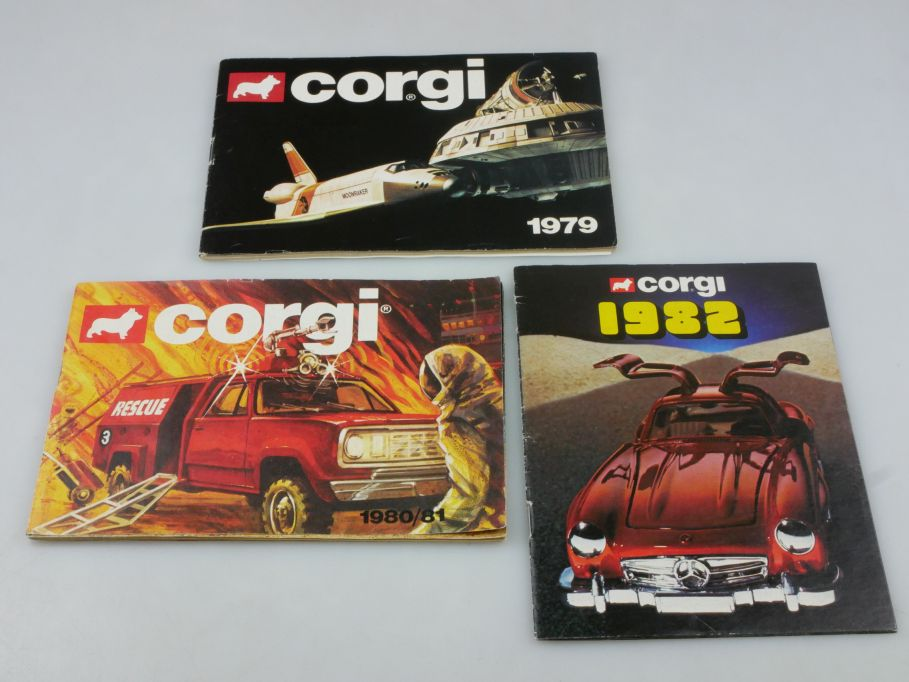 3x Corgi Toys Katalog Deutsch 1979 1980/81 1982 catalog 112456