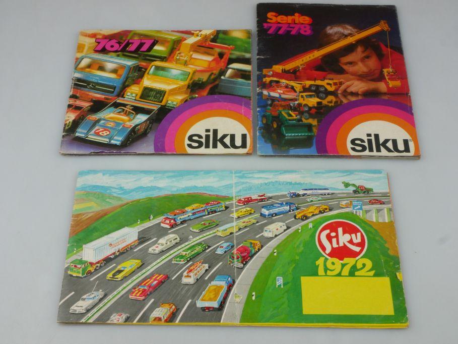 3x Siku Katalog 1972 Siku V 1976/77 1977-78 catalog brochure 112457