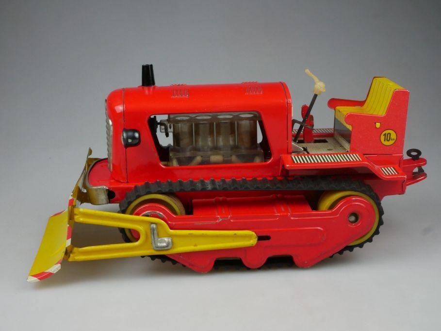 MSB Blechraupe Bulldozer Planierraupe Blech Spielzeug tin toy DDR VEB 112559