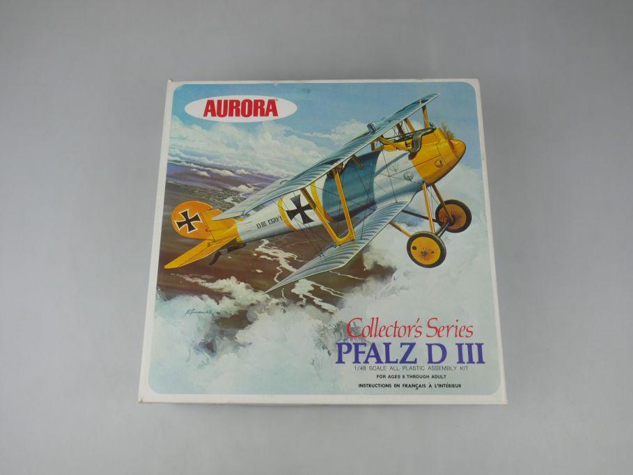 Aurora 1/48 Pfalz D III Collectors Series plane model kit w/ Box 112629