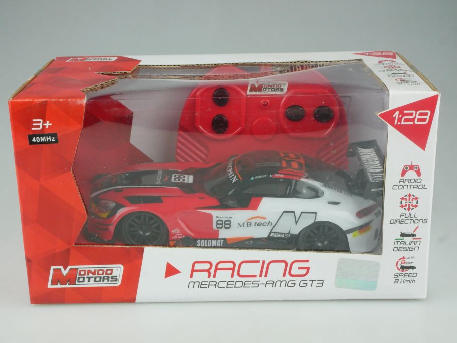 1:28 RC Mercedes AMG GT3 88 Mondo Motors 40Mhz 63430 remote control Box  112605