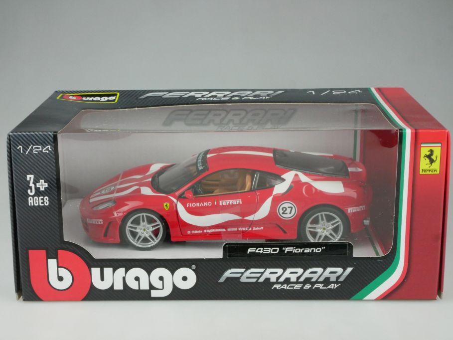 Bburago 1/24 Ferrari F430 Fiorano diecast model Burago Box 112606