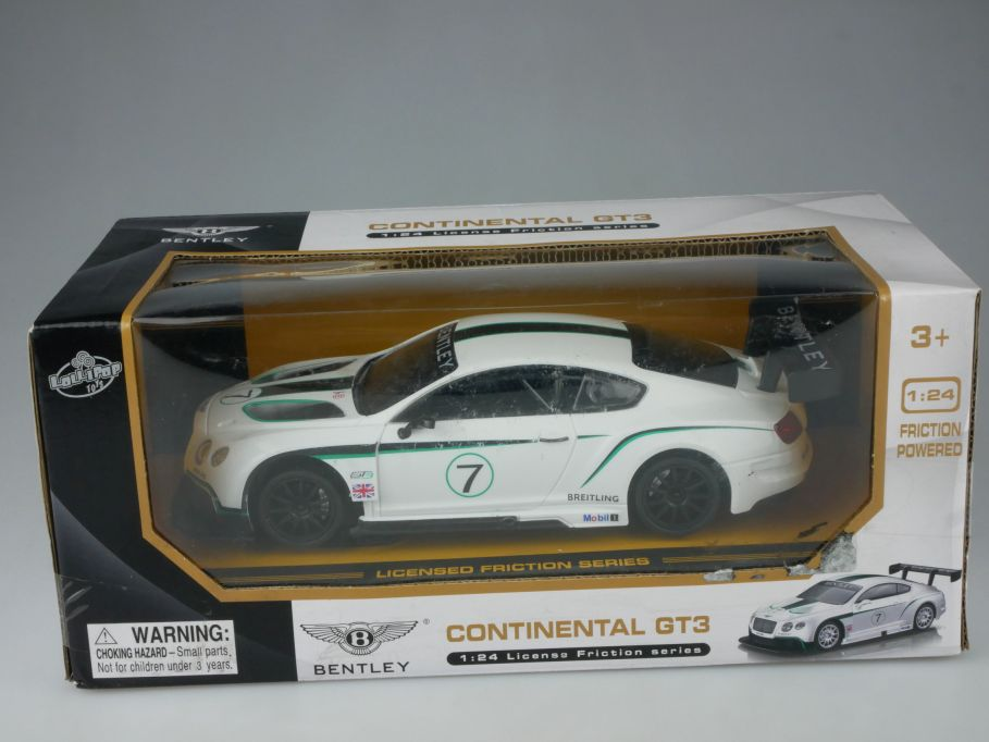 1/24 Bentley Continental GT3 Licensed Friction Series Toys 5920 Box 112607