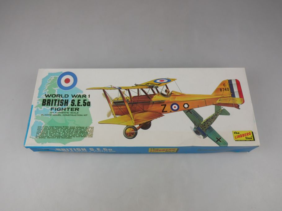 The Lindberg Line 1/48 13cm WW1 British S.E.5a Fighter plane kit w/ Box 112633
