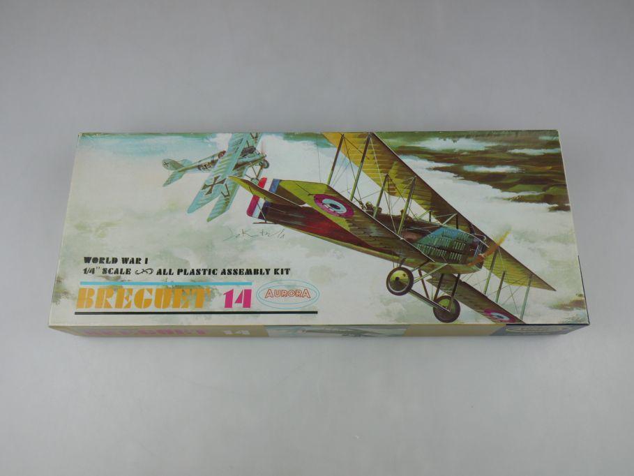 Aurora 1/48 Breguet 14 WWI 1963 plane model kit w/ Box 112636