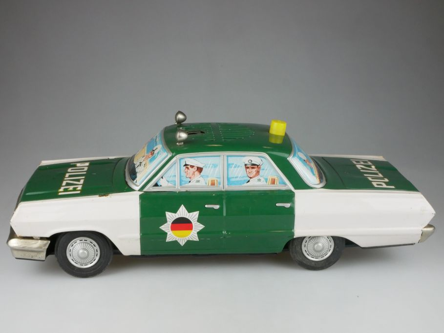 Yonezawa 649 Japan 1963 Chevy Biscayne Impala Blech Polizei Friktion tin 112665