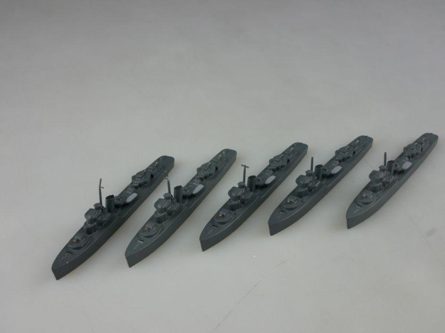 5x Wiking Plastik 1/1250 Hunt II Hunter Klasse Geleitzerstörer Schiff 112667