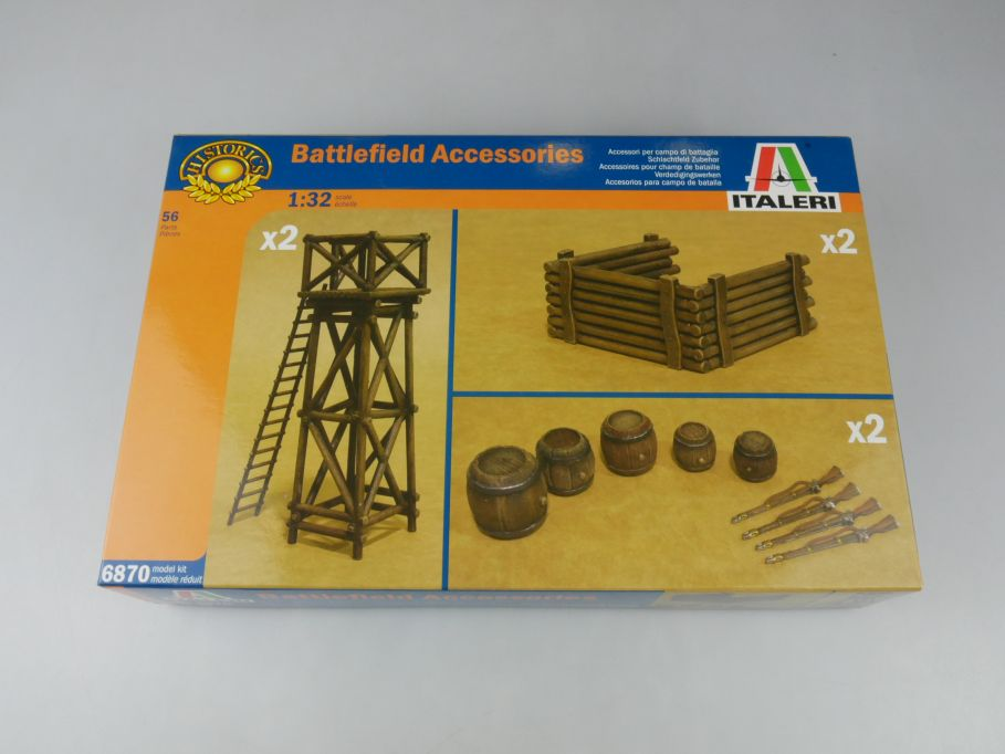 Italeri 1/32 Battlefield Accessoires model Schlachtfeld Zubehör kit w/Box 112639