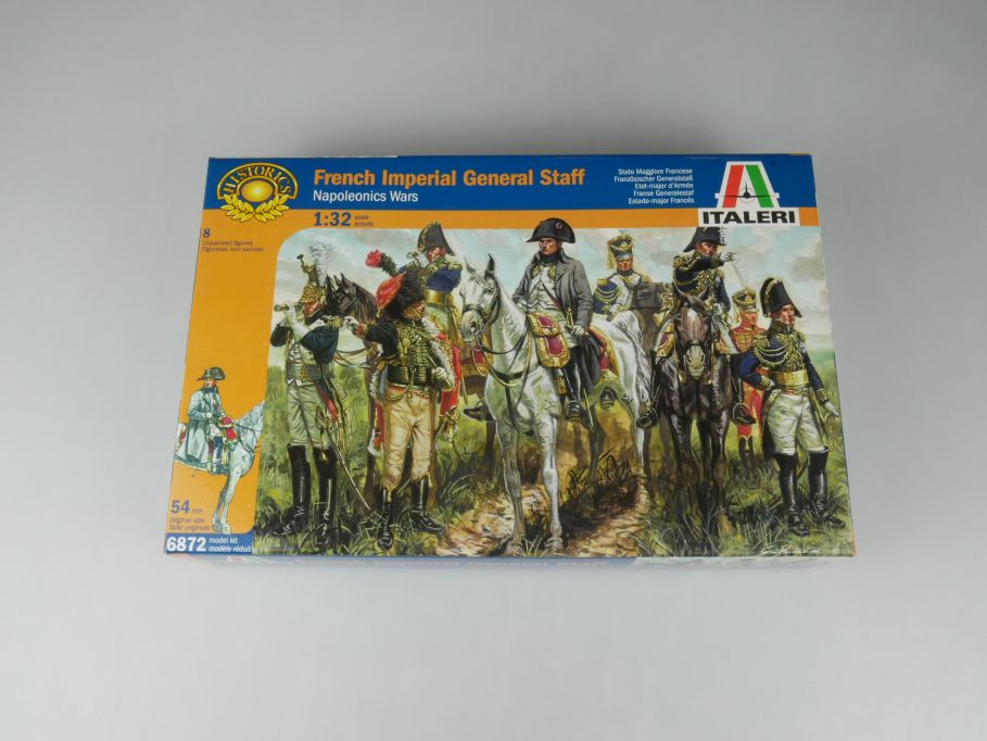 Italeri 1/32 French Imperial General Staff Napoleon 6872 figure kit w/Box 112678