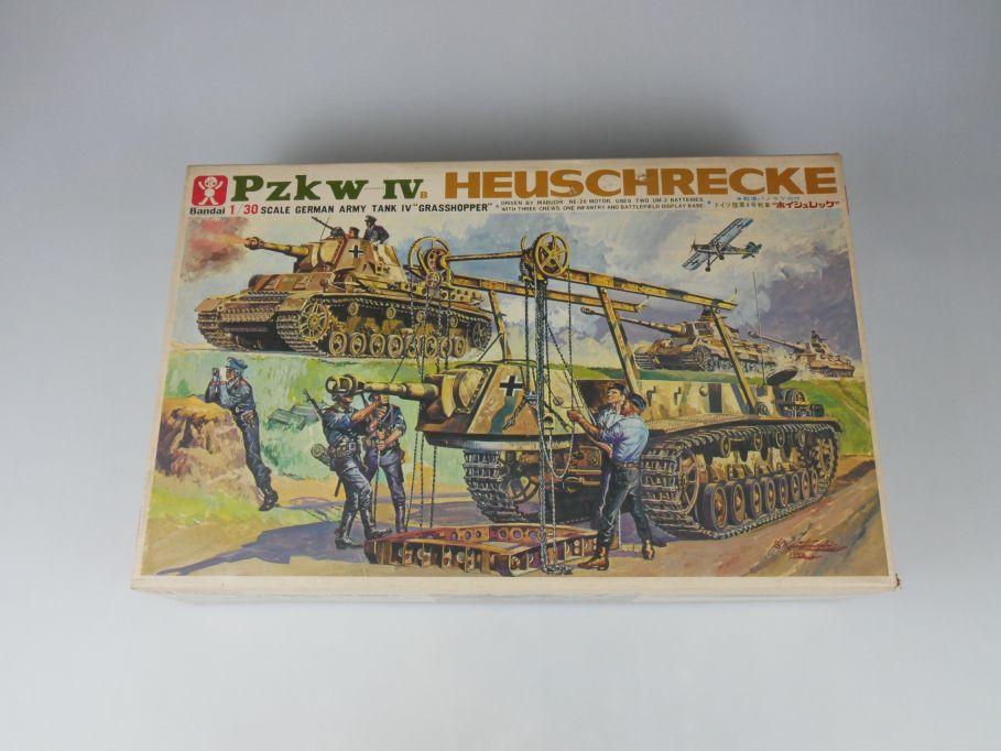 Bandai 1/30 Pzkw-IV Heuschrecke Panzer Tank model kit w/Box 112687